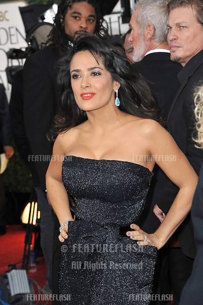 Salma Hayek at the 70th Golden Globe Awards at the Beverly Hilton Hotel..January 13, 2013  Beverly Hills, CA.Picture: Paul Smith / Featureflash