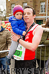 Aidan Curran, Tralee, with his nephew Darragh Curran at the Kerry's Eye Tralee, Tralee International Marathon and Half Marathon on Saturday.