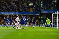 Chelsea's Willian has a shot at goal <br /> <br /> Photographer Craig Mercer/CameraSport<br /> <br /> The Premier League - Chelsea v Crystal Palace - Saturday 10th March 2018 - Stamford Bridge - London<br /> <br /> World Copyright &copy; 2018 CameraSport. All rights reserved. 43 Linden Ave. Countesthorpe. Leicester. England. LE8 5PG - Tel: +44 (0) 116 277 4147 - admin@camerasport.com - www.camerasport.com