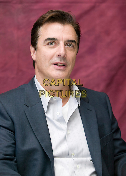 "CHRIS NOTH.Photocall for ""Sex & The City: The Movie"" at The Mandarin Oriental, Lotus Suite, New York City, NY, USA..May 5th, 2008.satc headshot portrait white shirt grey gray suit .CAP/AW.©Anita Weber/Capital Pictures."