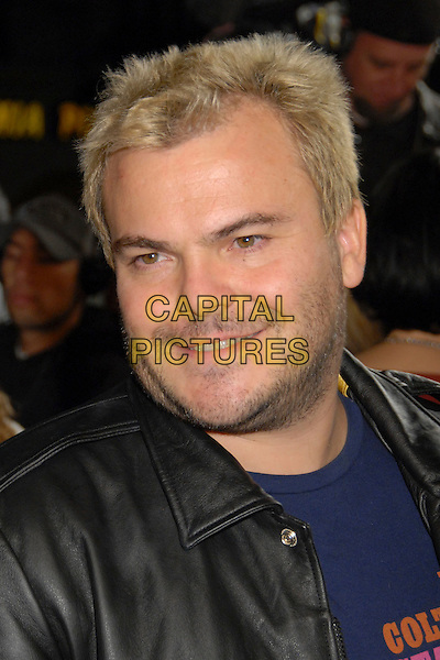 "JACK BLACK.""Juno"" Los Angeles Premiere at Mann's Village Theater, Westwood, California, USA, 3 December 2007..portrait headshot blonde dyed hair.CAP/ADM/BP.©Byron Purvis/AdMedia/Capital Pictures."
