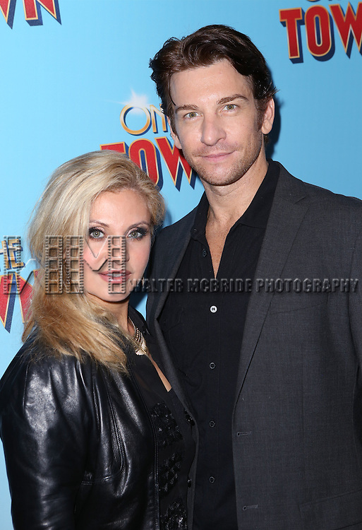 Orfeh and Andy Karl attends the Broadway Opening Night Performance of 'On The Town'  at the Lyric Theatre on October 16, 2014 in New York City.