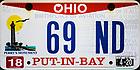 "June 1, 2019; Ohio license plate ""69 ND""  (Photo by Matt Cashore/University of Notre Dame)"