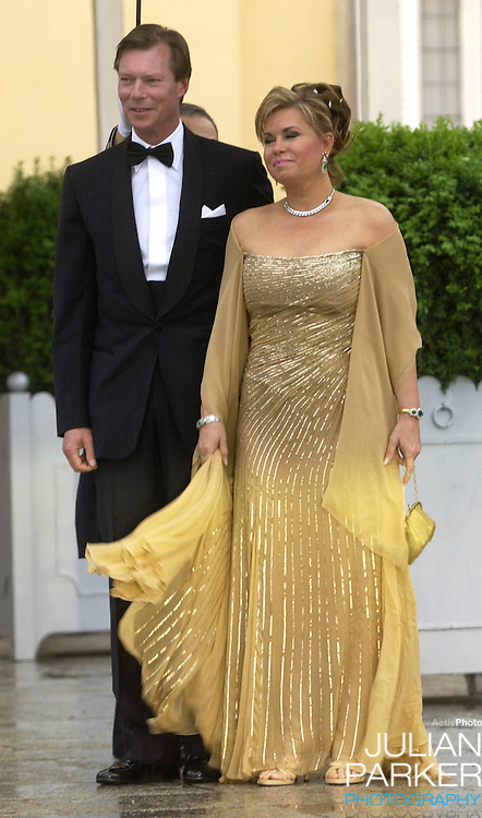 Grand Duke Henri & Grand Duchess Maria-Theresa of Luxembourg attend a Gala Dinner at the El Pardo Royal Palace in Madrid..Picture: UK Press