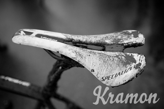 dirty saddle<br /> <br /> 2014 UCI cyclo-cross World Championships, Elite Women
