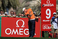 Marcel Siem (GER) tees off on the 9th tee during Sunday's Final Round of the 2012 Omega Dubai Desert Classic at Emirates Golf Club Majlis Course, Dubai, United Arab Emirates, 12th February 2012(Photo Eoin Clarke/www.golffile.ie)