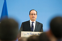 FRANCOIS HOLLANDE A L'INSEP POUR L'EVENEMENT '11 TRICOLORE, LA FRANCE AU RENDEZ-VOUS'