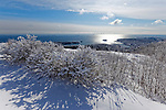 Snow on Mt. Battie, Camden, Maine, USA