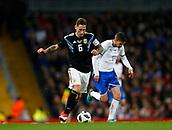 23rd March 2018, Etihad Stadium, Manchester, England; International Football Friendly, Italy versus Argentina; Lucas Biglia of Argentina runs through midfield past Jorginho of Italy