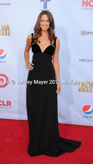 PASADENA, CA - SEPTEMBER 16: Maiara Walsh arrives at the 2012 NCLR ALMA Awards at Pasadena Civic Auditorium on September 16, 2012 in Pasadena, California.