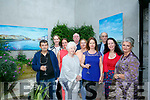 Artists Liam Gunn, Kate Kennelly, KCC,  Jane Deasy, Phil Hussey, Paudie Lynch, Breda Flynn, Mary Carney, Adrian Evison, Clem O'Keeffe and Geraldine Kissane at the Tralee Art Group Summer Soiree night of Art and Music at Baile Mhuire Centre on Thursday