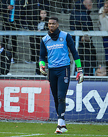 Jamal Blackman of Wycombe Wanderers warms up before the Sky Bet League 2 match between Wycombe Wanderers and Yeovil Town at Adams Park, High Wycombe, England on 14 January 2017. Photo by Andy Rowland / PRiME Media Images.