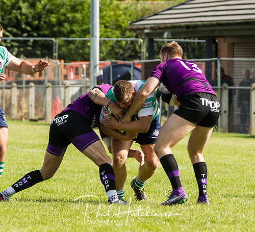 Leicester, England, 9th, September, 2017. <br /> <br /> Action in the National League 2 North rugby union match between Leicester Lions rfc and South Leicester rfc.  Ex Leicester Lions prop Shaun Murray on the charge for South Leicester<br /> <br /> <br /> <br /> <br /> &copy; Phil Hutchinson
