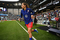 Saint Paul, MN - SEPTEMBER 03: Tobin Heath #17 of the United States during their 2019 Victory Tour match versus Portugal at Allianz Field, on September 03, 2019 in Saint Paul, Minnesota.