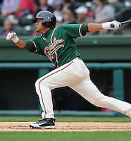April 19, 2009: Infielder Emilio Ontiveros (11) of the Greensboro Grasshoppers, Class A affiliate of the Florida Marlins, in a game against the Greenville Drive at Fluor Field at the West End in Greenville, S.C. Photo by: Tom Priddy/Four Seam Images