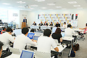 (L to R)  Sadaharu Oh,  Katsuhiko Kumazaki,  Riccardo Fraccari,  Beng Choo Low,  Dele Mcmann,  Taeko Utsugi,  AUGUST 7, 2015 :  World Baseball Softball Confederation (WBSC)  holds a media conference following its interview  with the Tokyo 2020 Organising Committee in Tokyo Japan.  (Photo by YUTAKA/AFLO SPORT)