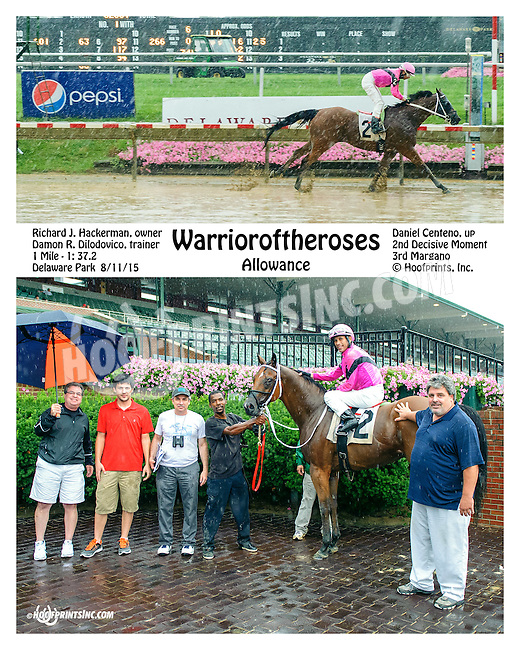 Warrioroftheroses winning at Delaware Park on 8/11/15