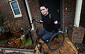 ALEX LEWIS, 37, STOCKBRIDGE, HAMPSHIRE, WHO BECAME QUADRAPLEGIC WHEN A COMMON COLD BECAME A FLESH EATING VIRUS WHO HAS BEEN MICROCHIPPED IN HIS BOTH STUMPS GIVING HIM ELECTRONIC ACCESS TO HIS HOME. PICTURE BY CLARE KENDALL (07971477316). 20/12/2017.