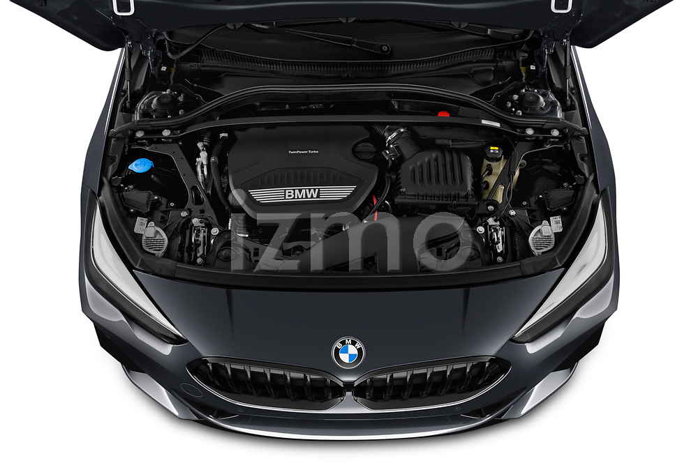 Car Stock 2020 BMW 2-Series-Gran-Coupe M-Sport 4 Door Sedan Engine  high angle detail view