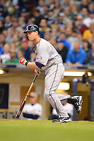 Minnesota Twins first baseman Justin Morneau #33 during a game against the Milwaukee Brewers at Miller Park on May 27, 2013 in Milwaukee, Wisconsin.  Minnesota defeated Milwaukee 6-3.  (Mike Janes/Four Seam Images)