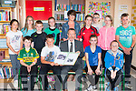 Sean Kelly MEP with pupils at Kilgarvan NS when he visited on Friday to unvail their European Union flag front row l-r: Daniel Lynch, Kyle Cronin, Kelly Twomey, Michel O'Donoghue. Back row: Mia Gadsden, Kathy Cronin, Dan Twomey, Niamh O'Sullivan, Aileen Moriarty teacher, Mary ellen McCarthy, Matas Olberkis, Amy Riordan and Eugene O'Sullivan