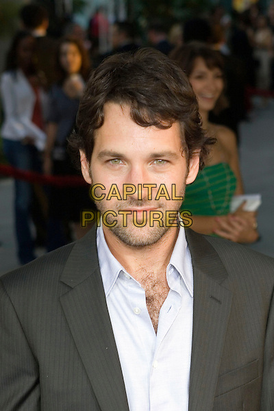 "PAUL RUDD.""The 40 Year-Old Virgin"" Premiere,.held at The Arclight Cinema,.Los Angeles, 11th August 2005.portrait headshot grey gray suit jacket white shirt stubble eye contact.www.capitalpictures.com.sales@capitalpictures.com.© Capital Pictures."
