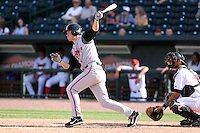June 15th 2008:  Designated Hitter Kevin Ahrens of the Lansing Lugnuts, Class-A affiliate of the Toronto Blue Jays, during a game at Dow Diamond in Midland, MI.  Photo by:  Mike Janes/Four Seam Images