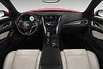 Stock photo of straight dashboard view of 2016 Cadillac CTS V V 4 Door Sedan Dashboard