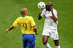 01 July 2006: William Gallas (FRA) (5) beats Ronaldo (BRA) (9) to the header. France defeated Brazil 1-0 at Commerzbank Arena in Frankfurt, Germany in match 60, a Quarterfinal game of the 2006 FIFA World Cup.