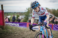 Anna Flynn (GBR/Edinburgh Road Club).<br /> <br /> women's race.<br /> Koppenbergcross Belgium 2018