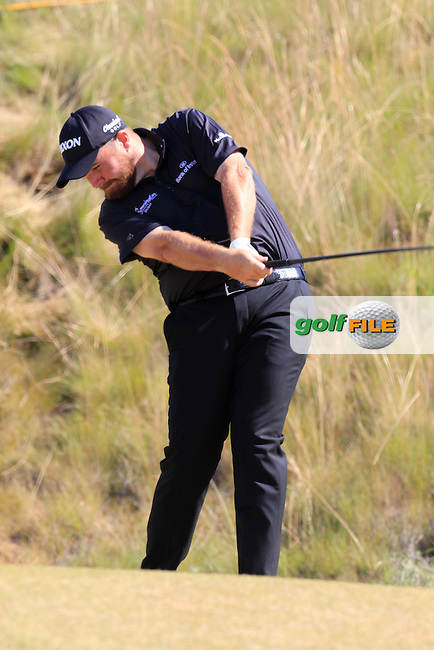 Shane LOWRY (IRL) tees off the 6th tee during Friday's Round 2 of the 2015 U.S. Open 115th National Championship held at Chambers Bay, Seattle, Washington, USA. 6/19/2015.<br /> Picture: Golffile | Eoin Clarke<br /> <br /> <br /> <br /> <br /> All photo usage must carry mandatory copyright credit (&copy; Golffile | Eoin Clarke)