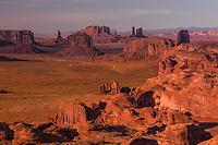 Monument Valley viewed from Hunts Mesa, Arizona