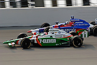 11 September, 2005, Joliet,IL,USA<br /> Tony Kanaan (11) races teammate Dario Franchitti.<br /> Copyright&copy;F.Peirce Williams 2005