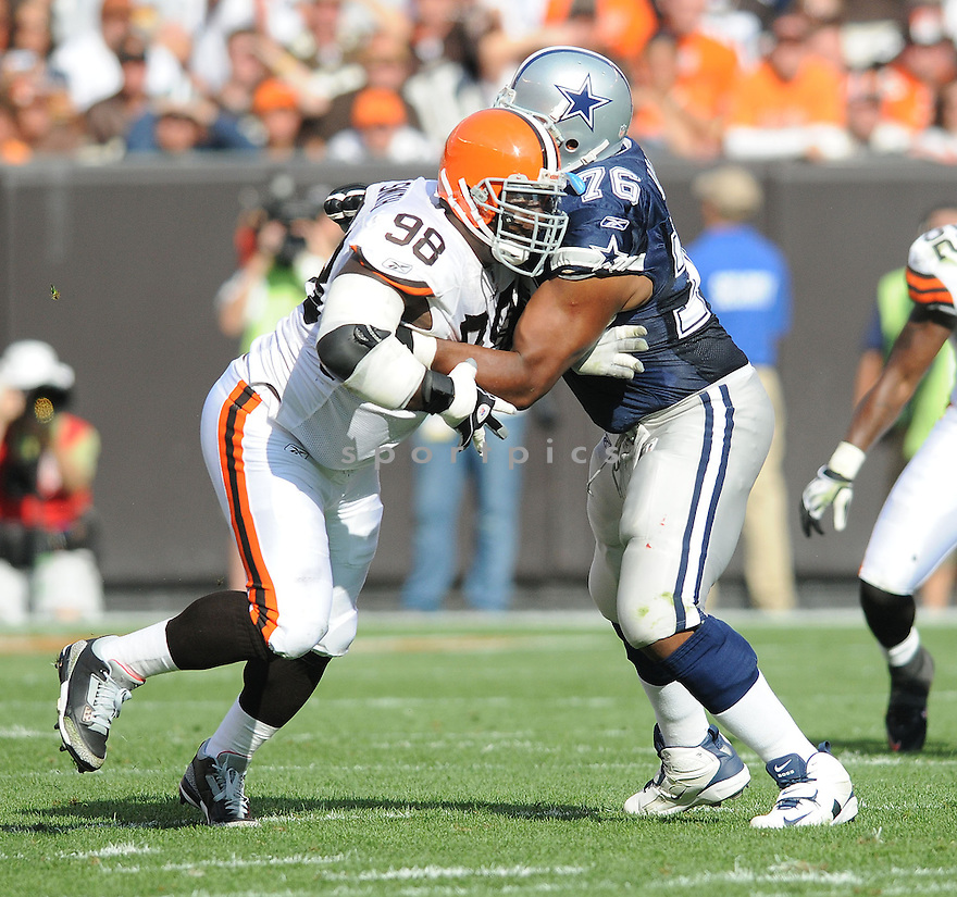 ROBAIRE SMITH, of the Cleveland Browns , in action during the Browns game against the Dallas Cowboys in Cleveland, Ohio on September 7, 2008..The Dallas Cowboys won 28-10