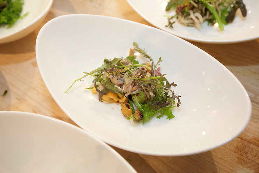 NEW YORK, NY - May 10, 2016: Chef Lee Chizmar gathers the foraged wealth of the Lehigh Valley for a special d&eacute;gustation at the James Beard House in Greenwich Village.<br /> <br /> CREDIT: Clay Williams for The James Beard Foundation.<br /> <br /> &copy; Clay Williams / claywilliamsphoto.com