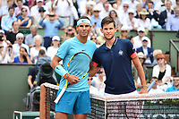 (L-R) Rafael Nadal of Spain  and Dominic Thiem of Austria during Day 15 (Men's Final Day) of the French Open 2018 on June 10, 2018 in Paris, France. (Photo by Dave Winter/Icon Sport)