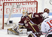 Wade MacLeod (NU - 19) makes it 3-1 Northeastern in the second period. - The Northeastern University Huskies defeated the Boston College Eagles 3-2 on Friday, February 19, 2010, at Matthews Arena in Boston, Massachusetts.