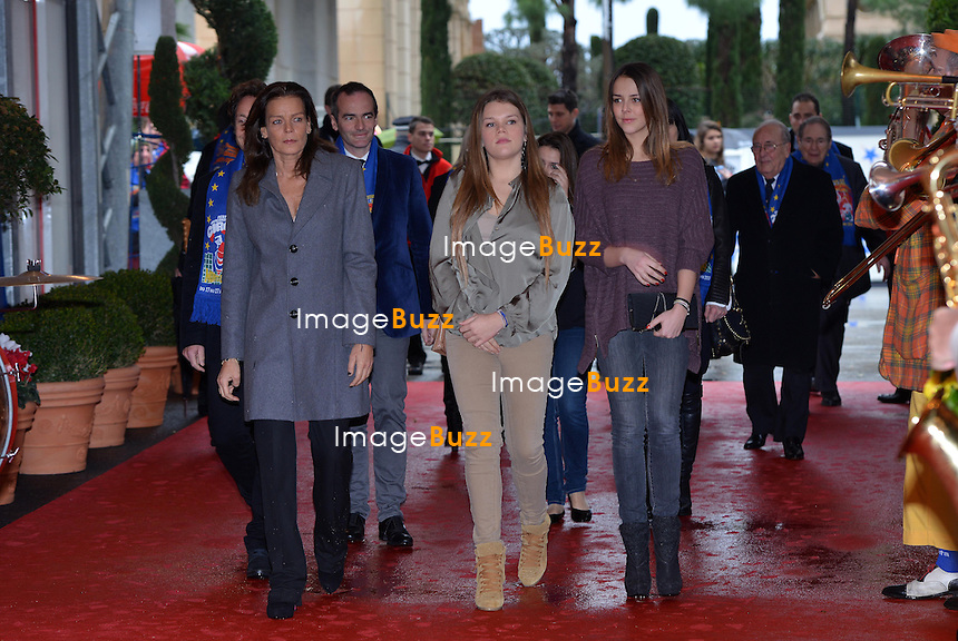 MONACO, PRINCESS STEPHANIE OF MONACO ATTENDS THE 4TH DAY OF THE 37TH CIRCUS FESTIVAL/January 2013-Monaco (MCO)-H. S. H. Princess Stéphanie of Monaco attends the fourth day of the Monte-Carlo Circus Festival with her daughters Pauline Ducruet, Camille Gottlieb and tv personality Stéphane Bern. January 20, 2013..........