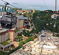 Cable car to Sentossa Island Arial views landscape N A Ebden photo