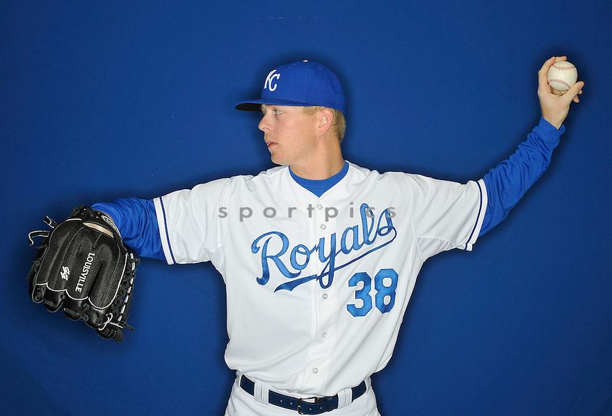 Kansas City Royals John Lamb (38) during media photo day on February 21, 2013 at spring training in Surprise, AZ.