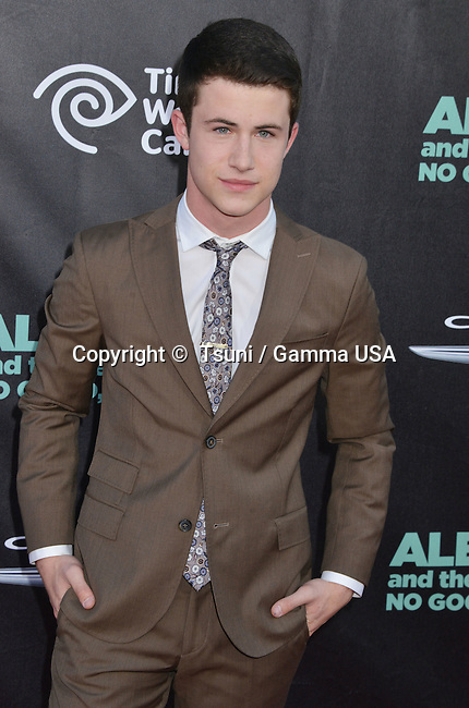 Dylan Minnette at the ALEXANDER AND THE TERRIBLE, HORRIBLE, NO GOOD, VERY BAD DAY Premiere at the El Capitan Theatre in Los Angeles.