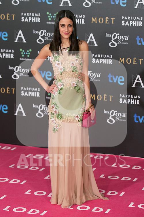 Macarena Garcia attend the 2015 Goya Awards at Auditorium Hotel, Madrid,  Spain. February 07, 2015.(ALTERPHOTOS/)Carlos Dafonte)