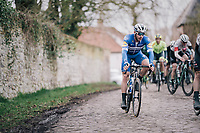 eventual winner Florian SÉNÉCHAL (FRA/Deceuninck-Quick Step) mid-race<br /> <br /> 51th Le Samyn 2019 <br /> Quaregnon to Dour (BEL): 200km<br /> <br /> ©kramon