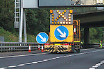 Roadworks on the M8<br /> <br /> Stock photographs for editorial use only.<br /> <br /> Image by: Malcolm McCurrach | New Wave Images UK<br /> Thu, 29, May, 2014