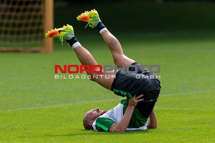 04.08.2016, Trainingsgelaende, Bremen, GER, 1.FBL, Training Werder Bremen<br /> <br /> im Bild<br /> Luca Caldirola (Bremen #3), <br /> <br /> Foto &copy; nordphoto / Ewert