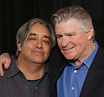 "Stephen Adly Guirgis and Treat Williams attend the photo call for The Dorset Theatre Festival revival of David Mamet's ""American Buffalo""  at the Actors Connection on March 23, 2017 in New York City"