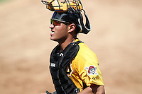 Pittsburgh Pirates catcher Elevys Gonzalez #62 during an Instructional League game against the Philadelphia Phillies at Bright House Field on October 13, 2011 in Clearwater, Florida.  (Mike Janes/Four Seam Images)
