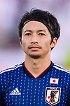 Shibasaki Gaku of Japan is seen prior to the AFC Asian Cup UAE 2019 Group F match between Oman (OMA) and Japan (JPN) at Zayed Sports City Stadium on 13 January 2019 in Abu Dhabi, United Arab Emirates. Photo by Marcio Rodrigo Machado / Power Sport Images