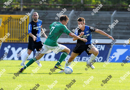 2011-09-25 / Voetbal / seizoen 2011-2012 / Rupel-Boom - Kelmis / Pinckaers met Tim Nicot (r, RB) ..Foto: Mpics