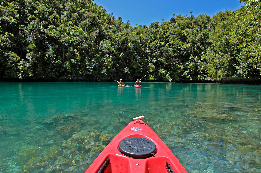 Kayaking in the Rock Islands of Palau
